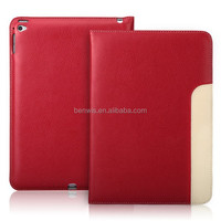Eco-friendly leather cover case with card holder for ipad air 2 leather case