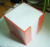 acrylic box with 900 memo sheets