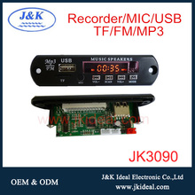 JK3090 High quality usb mp3 player circuit board with recorder