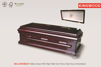 BALLON BEAR Pet Teak Casket china wood casket manufacturers