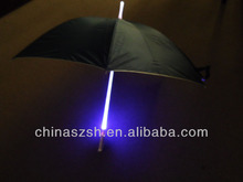 Wholesale beautiful colorful light up flashing umbrella LED for night