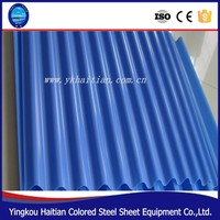 glazed blue color steel thermal insulation roof tile