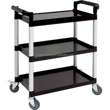 Plastic utility cart food trolley cart service cart for restaurant hospital kitchen