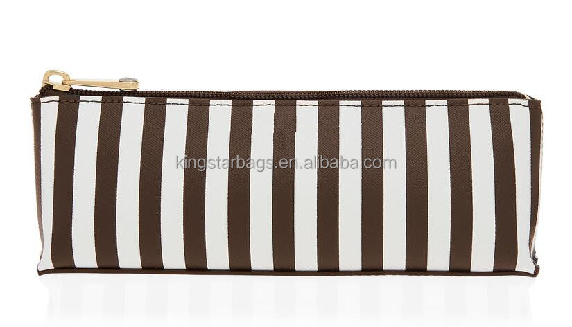 mixed color straps pu cosmetic pencil case bag