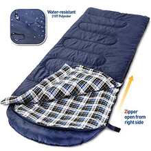 Warm Weather Sleeping Bag - Outdoor Camping, Backpacking & Hiking - Fit for Kids, Teens and Adults - Lightweight, Waterproof