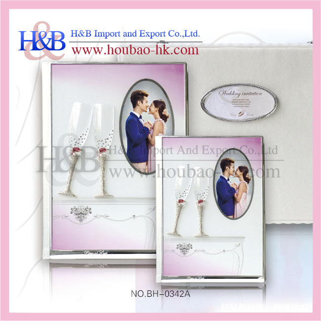 H&B delicate hot sale procedure of handicraft magnetic photo albums