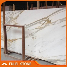 Italy luxury calcutta gold marble slab and tiles