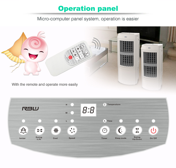 AC 100W New Stylish Portable Centrifugal Evaporative Air Cooler Fan