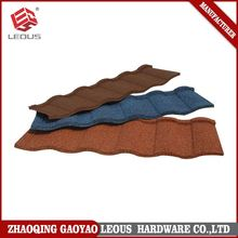 Durable corrugated stone coated roofing metal tile