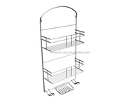 2016 New Design Bathroom Wall Mount Metal Shelves