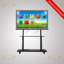LCD classroom interactive whiteboard IR or capacitive touch screen/interactive tv touch screen whiteboard