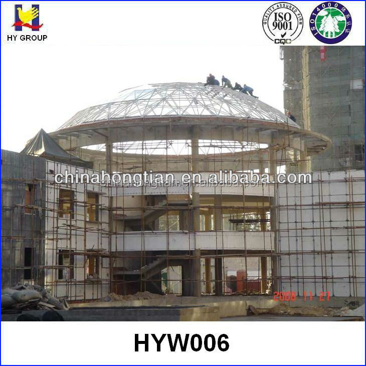 Prefabricated steel space frame structure dome roof