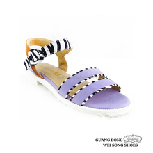 Chaozhou factory best price top quality white outsole ankle strap casual lady sandal 2015