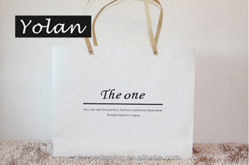 Competitive-price white card luxury recyclable fashion gift paper bags with your own logo