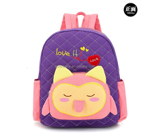 2016 hot sale cute animal shape kids cartoon picture of school bag