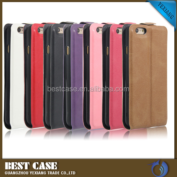 Luxury Open Up and Down TPU Leather Case For Samsung Galaxy S6 Edge Wallet Design
