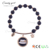 candygirl brand handmade black accessories beads golden custom jewelry bead bangle women charm bracelet