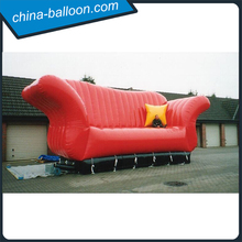 giant advertising inflatable red long sofa model/ inflatable outdoor sofa/ inflatable chair