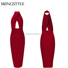 New fashion sexy O- neck summer bandage dresses wholesale bodycon sexy cocktail dresses 2016