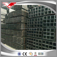 SS400 OILED BLACK SQUARE STEEL PIPE/TUBE BUILDING MATERIAL with plastic bag