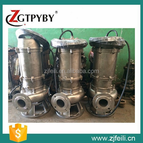 best flow pump electric 304&316 series stainless steel sewage pump stainless steel impeller