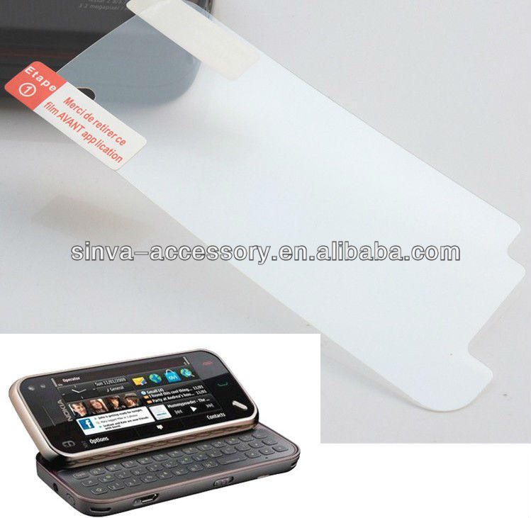 Rohs material Three layers screen guard film for Nokia Asha 302