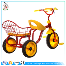 Twins children tricycle / Double seat kids tricycle / Cheap baby trike with double seat