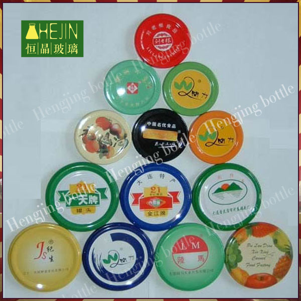 High quality various colored metal jar lids printed , metal lids for glass canning jars