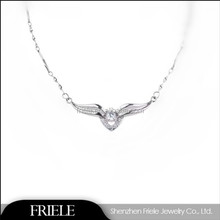 Friele's Design Eternal Heart shape sterling silver necklace