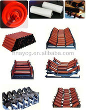 HDPE conveyor roller with plastic bearing housing for belt conveyor rollers