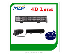 2015 Double row 4D Offroad 90W LED Light Bar IP67, CE, ROHS