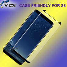 S8 Tempered Glass Screen Protector, Case Friendly 3D Screen Protector For Galaxy S8~