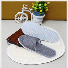 Cheap Personalized Flax Slippers For Hotel