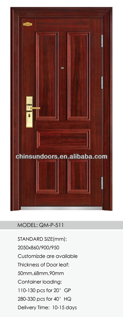 High Quality exterior security steel door residential
