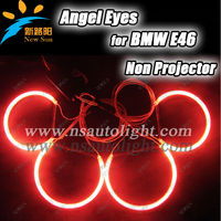 Super Bright & Colourful ccfl car lights e46 non projector for bmw motorcycle car ccfl angel eyes