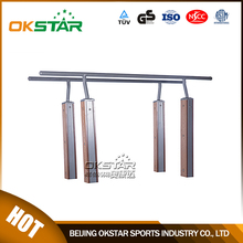 Wood Plastic Composite Parallel Bars In Outdoor Fitness Equipment LK-S04