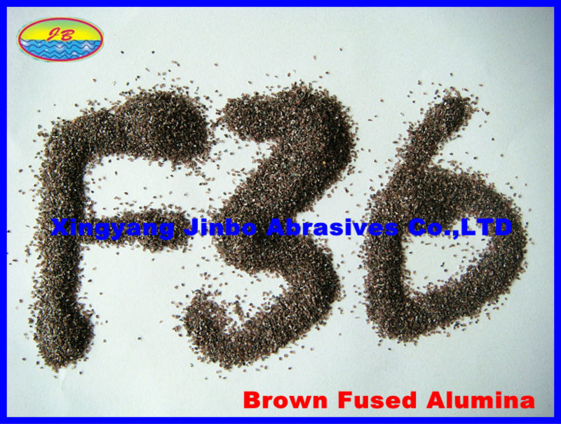 sandblasting media brown fused alumina / BFA/ A F36 grit