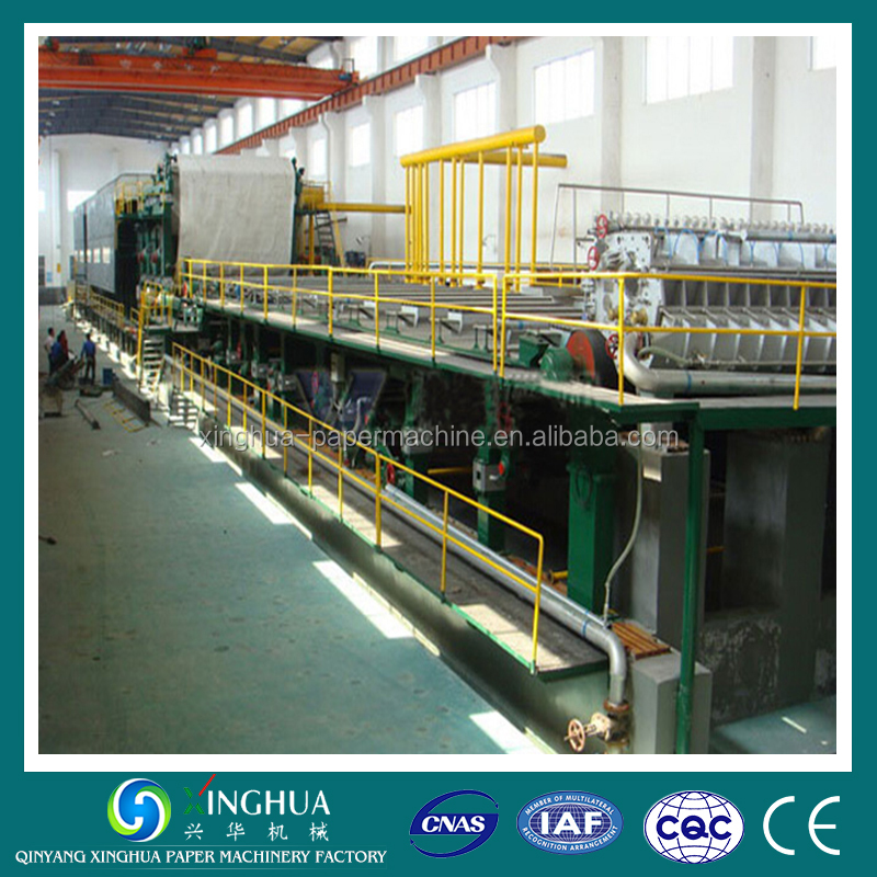 Recycling wheat straw to kraft/corrugated/fluting paper making machinery production line