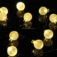 30 LED Solar Globe String Lights Warm White Dragon Ball/led crystal magic ball light for Parties Christmas