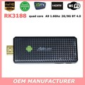 Latest wireless wifi tv stick RK3188 quad core RK3188 usb tv stick hdmi android 4.2 smart tv dongle stick with factory price