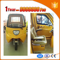 Differential motor electric van tricycle with roof