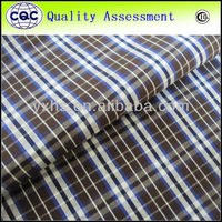 Polyester cotton yarn dyed check fabric for shirt