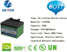 Golf Trolley; EV; Lead-acid Battery Replacement; Lifepo4 / Li-ion Battery Pack; 12v22Ah