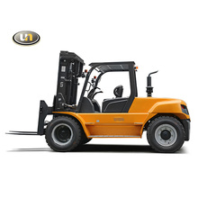 China Supplier 10 Ton 2 Stage Wide View Mast Diesel Forklift
