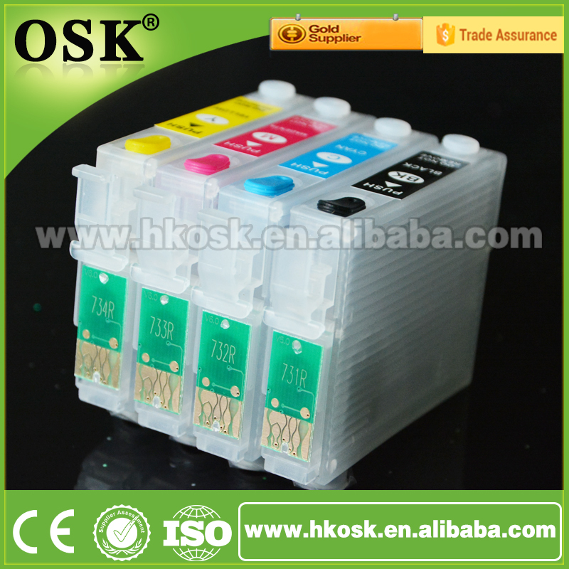 T1091 refill cartridges for Epson ME 600F ME 510 ME 520 Compatible ink cartridge with Auto Reset Chip
