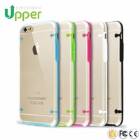 Factory supply high quality ultra transparent PC mobile phone cover clear hard case for iphone6 plus