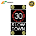 12 v DC power supply vehicle activated signs radar speed sign in stock