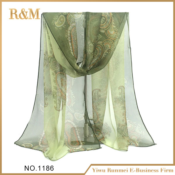 Top Quality decoration flower lace silk scarf