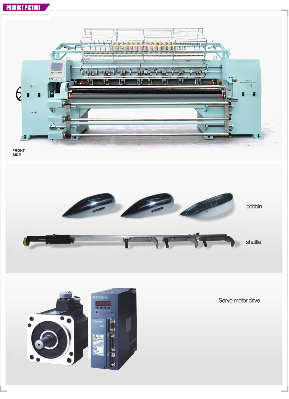 YBD94-3Muti-needle Quilting Machine with triple needle bars cotton quilting machine