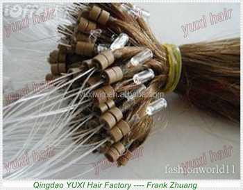 qingdao hair Factory wholesale hair extension curly micro ring